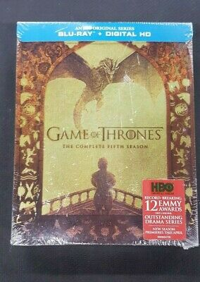 Game of Thrones: The Complete Fifth Season (Blu-Ray & Digital HD) [SEALED]