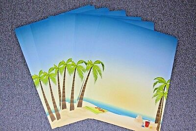25 Sheets Computer Stationary Beach Time by Great Papers