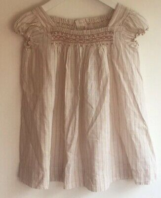Immaculate Bonpoint Brode Main 2 Yrs 18-24 Mth Girl Blouse Gypsy Smocked Cotton