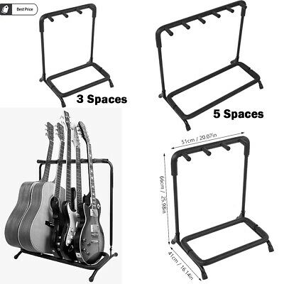 Guitar Rack Stand 3/5/Way Multiple Guitars Electric Acoustic Bass Space-saving