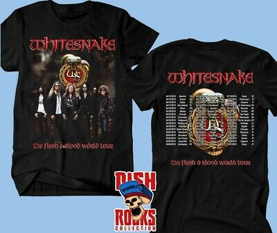 Whitesnake Band T shirt The Flesh & Blood World Tour 2019 Tour Complete Dates