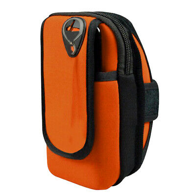 Adult Outdoor Sports Armband Waterproof Armbag Casual Arm Package Bag Orange
