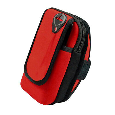 Outdoor Sports Armband Waterproof Armbag Casual Arm Package Bag f Adults Red