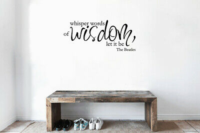 ed1400 Wall Decal Phrase Famous Words of Wisdom Office Vinyl Sticker