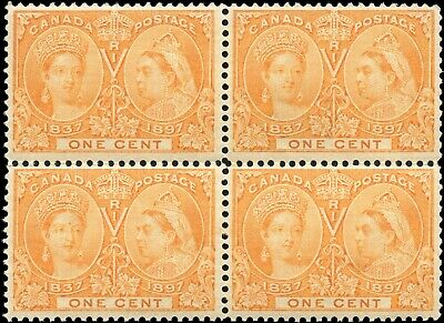 1897 Mint Canada Scott #51i 1c Diamond Jubilee Issue Stamps Never Hinged
