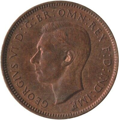1942 Farthing Of King George Vi. / Almost Uncirculated  #Wt2721