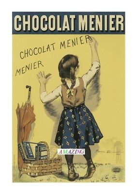 AP81 Vintage 1893 French Chocolate Chocolat Advertisement Poster Card Print A5