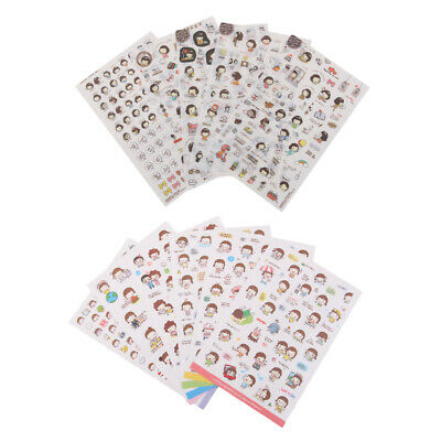 11Sheets Self Adhesive Stickers Sticky for Kids DIY Crafts Scrapbooking Card