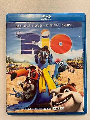 Rio   Pre Owned   Blu Ray Dvd And Digital Copies 3 Disc Set