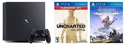 PlayStation 4 Pro 1TB Console & Horizon Zero Dawn & Uncharted Collection - Sony