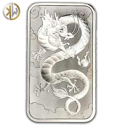 2019 Australian Dragon 1oz fine .9999 silver coin bar in sleeve free delivery