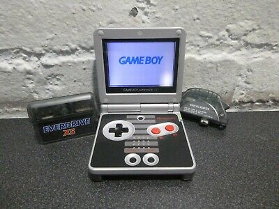 GAMEBOY ADVANCE SP GBA NES Nintendo Edition Console - Wirless adapter & E drive