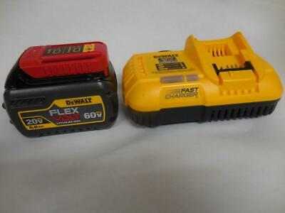 DEWALT DCB118 Fast Charger + DCB606 Flex Volt 20V/60V Lithium Ion Battery