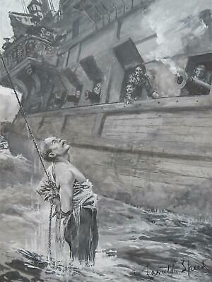 Pirates Keel Hauling Marine Lancelot Speed Original Artwork 18th Century Ship