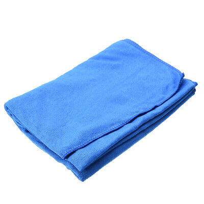 New Microfiber Towel Car Cleaning Wash Drying Detailing Cloth No Scratch Blue