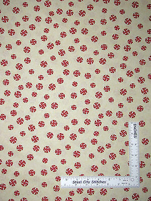 Yard Christmas Peppermint Candy Toss Cotton Fabric Kanvas Studio Holiday Cheer