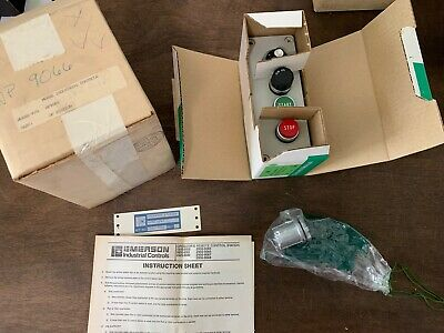 Emerson / Morse Operator Control Station WP9066 Start Stop Speed, NOS