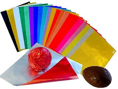 375 Blatt bunte Alufolie 100x100mm wrapper for chocolate Einwickelfolie