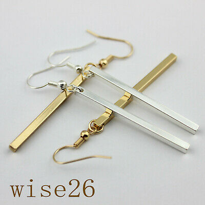 Fashion Long Bar Drop Earrings Dainty Gold Women Long Bar Drop Dangling Earrings