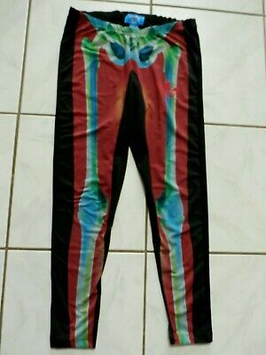 9dac3948022b3 Adidas Originals Womens X Rita Ora O-ray Skeleton Print Leggings Pants Sz M  B509
