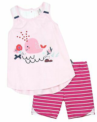 Deux par Deux Little Girls' Top and Tight Shorts High Style at Low Tide, Sizes