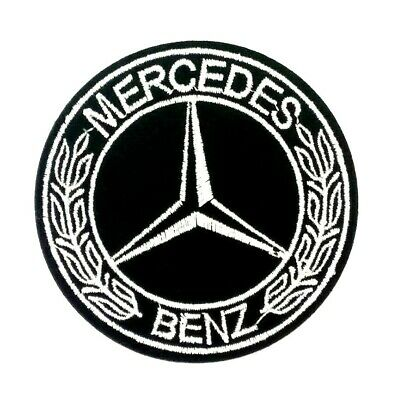US SELLER Mercedes Benz  Logo/ Emblem Embroidered Iron On Patches. Round 183