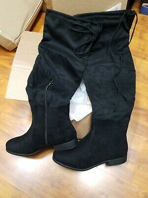 af1bd9fc36f JOURNEE COLLECTION WOMEN'S Over the Knee Wide Boots - Black - Size ...