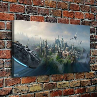 Star Wars Country Behind Painting HD Print on Canvas Home Decor Wall Art 14x26