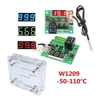 W1209 Digital Thermostat Temperature Controller DC12V NTC10K 1% 3950 Cable