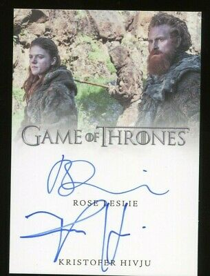 Game of Thrones Inflexions DUAL AUTO - Rose Leslie & Kristofer Hivju