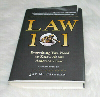 Law 101 Fourth Edition Jay M. Feinman Hardback College Textbook American Law