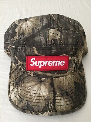 ee94ea73 Supreme Real Tree Camo Camp Cap Hat Red Box Logo FW11 Rare Authentic  Woodland