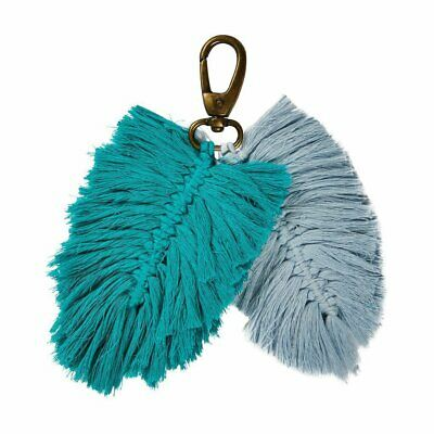 Sage and Clare - Sierra Macrame Key Ring Haze/Opal