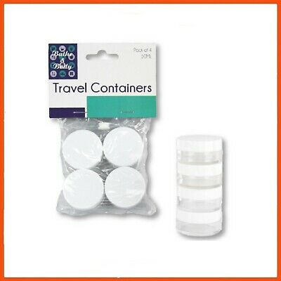 48 x ROUND COSMETIC TRAVEL CONTAINERS 10 ml | Medication Face Body Cream Cases