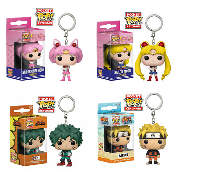 Funko Pocket Pop! Keychains Anime Naruto Sailor Moon My Hero Academy Accessories