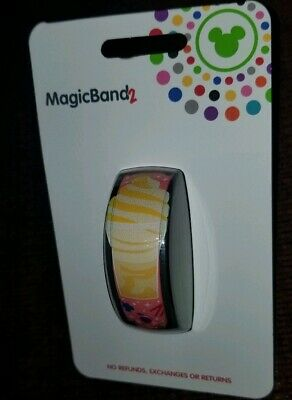 NEW Disney Parks Magic Band 2 Dole Whip Snacks  2019 Pink LINKABLE