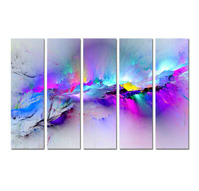 Large Framed Modern Purple Abstract Canvas Print Painting Home Decor Wall Art