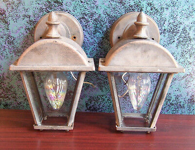 Matching Pair of Arts & Crafts Wall Sconces  -  Rustic, Craftsman, Cottage
