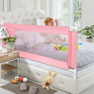 Baby Child Toddlers' Safety Bed Rail Sturdy & Durable Swing Down Guardrail Wall