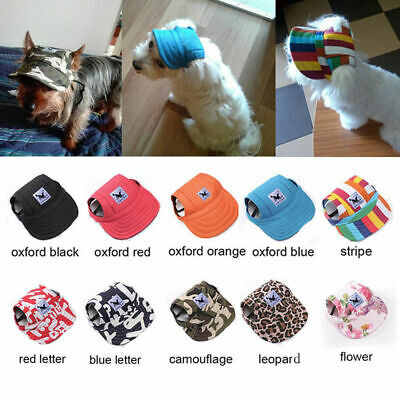 Pet Dog Hat Sports Baseball Cap Windproof Travel Sun Hats for Puppy Large Dog