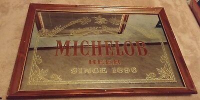 "Vintage Michelob Beer Since 1896 Mirror Bar Sign by Anheuser-Busch 26"" x 18-1/4"""
