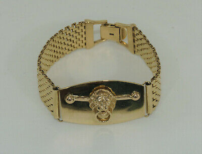 HEAVY SOLID 14CT Gold Curb Bracelet 32 8 Grams 14k 585 Not