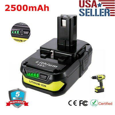 Tool Battery P102 for Ryobi ONE PLUS Power 18V 2.5Ah P104 P108 P190 Lithium P107
