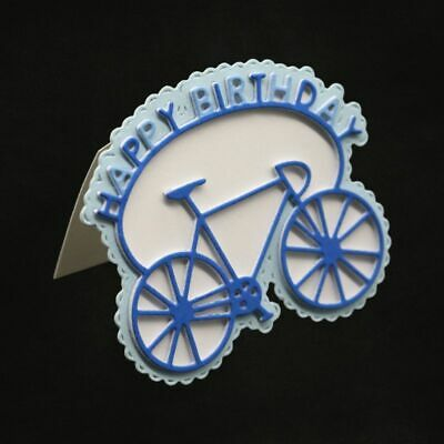 Happy Birthday Bike Bicycle Cutting Dies Stencil DIY Scrapbooking arts du papier