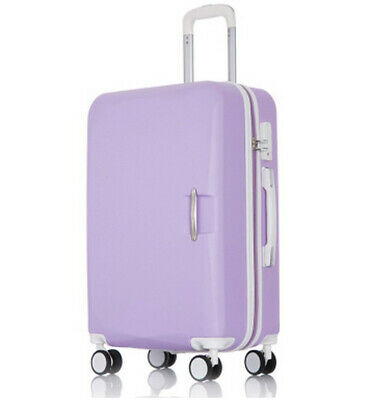 D906 Purple Lock ABS Universal Wheel Travel Suitcase Luggage 24 Inches W