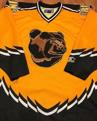 724bd6218a3 VINTAGE NHL BOSTON BRUINS 3rd Jersey Starter Pro Hockey POOH BEAR ...