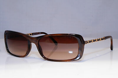 fd599d96a6ff CHANEL Womens Designer Sunglasses Brown Rectangle CHAIN LEATHER 5209 6173B  19662