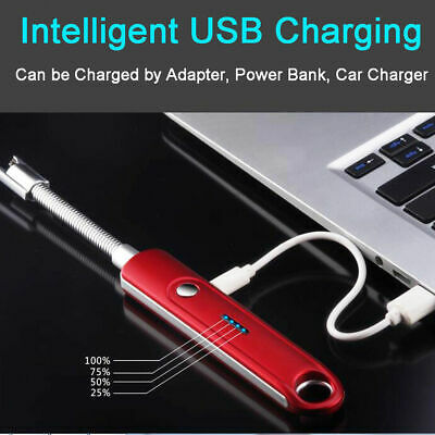 Electric Lighter Rechargeable Double Arc Usb Windproof Plasma 360°rotation head