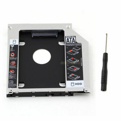 """2.5"""" Universal SATA 2nd SSD HDD Caddy Bay Hard Drive 9.5mm Expansion for Laptops"""