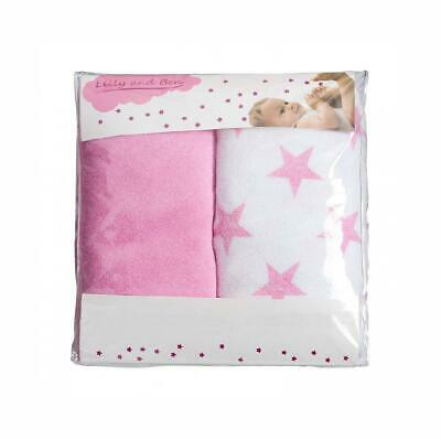 Changing Mat Cover Terry WEDGE, 50 cm large. Fits 2 and 3 wedges, Pink Star
